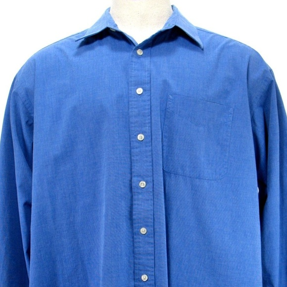 Tommy Hilfiger Other - Tommy Hilfiger- Blue Dress Shirt - Size 17.5